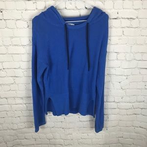 T Alexander Wang Knit Hooded Sweater Blue Small